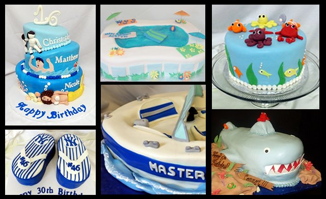 Summer Cakes Collage