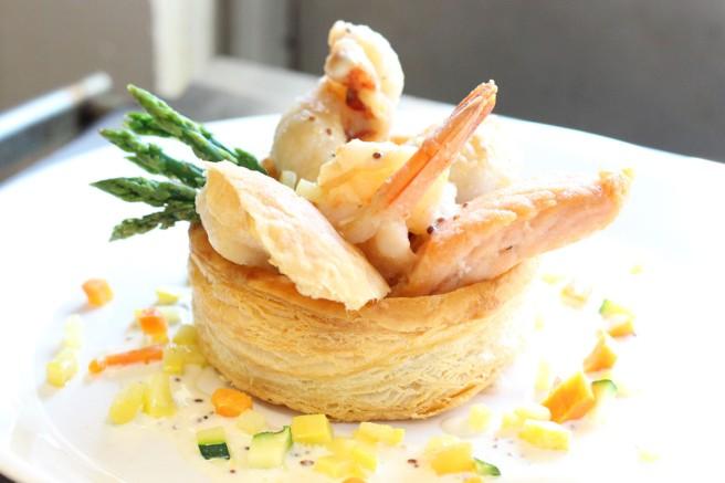 Seafood Medley Vol Au Vent