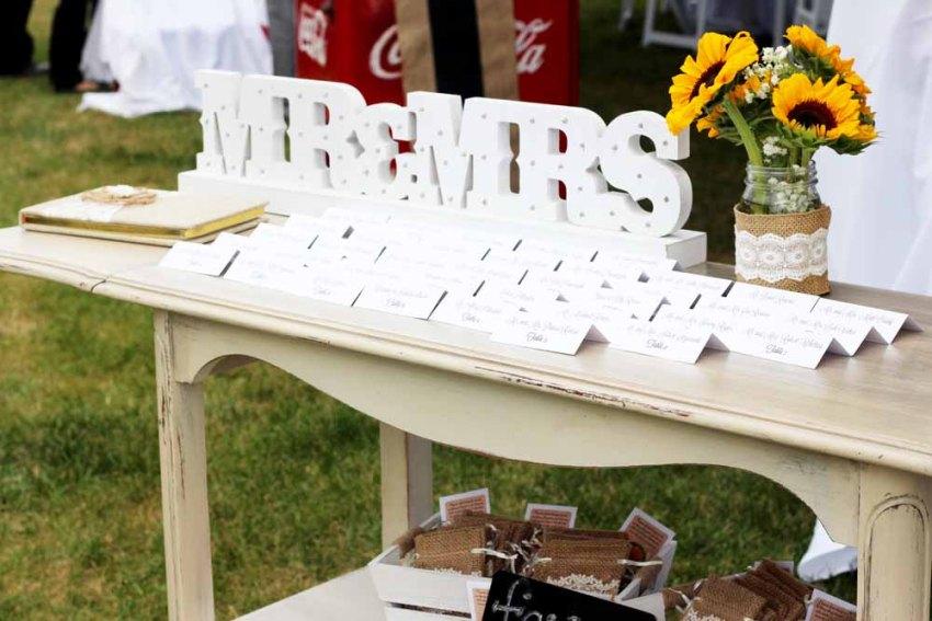 Milk Crate Wedding Cake Display