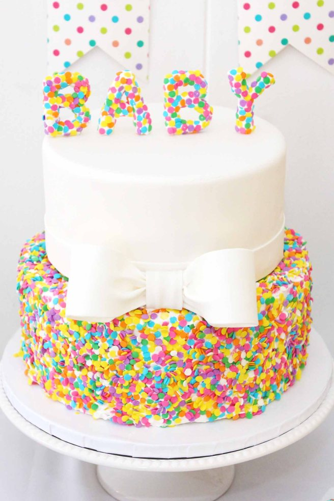 gender reveal baby shower cake by French bakery Cafe Pierrot in North Jersey.