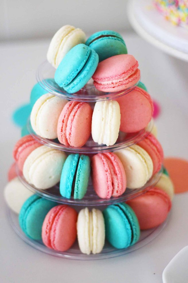 Macaron Tree in Baby Shower colors from French Bakery Cafe Pierrot in North Jersey
