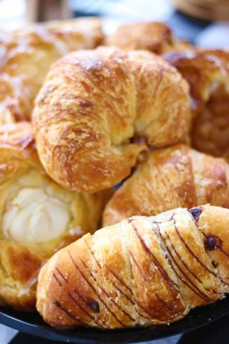 Pastry Platter full of Croissants, Danish, and Scones are perfect for breakfast from Pierrot Catering in Sussex County NJ
