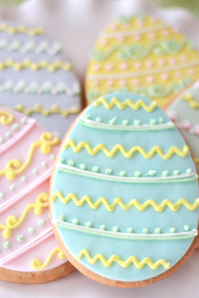 Decorate Easter Egg cookies by Cafe Pierrot French bakery in north jersey