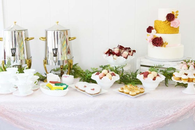wedding dessert table with coffee station from cafe pierrot in sparta nj