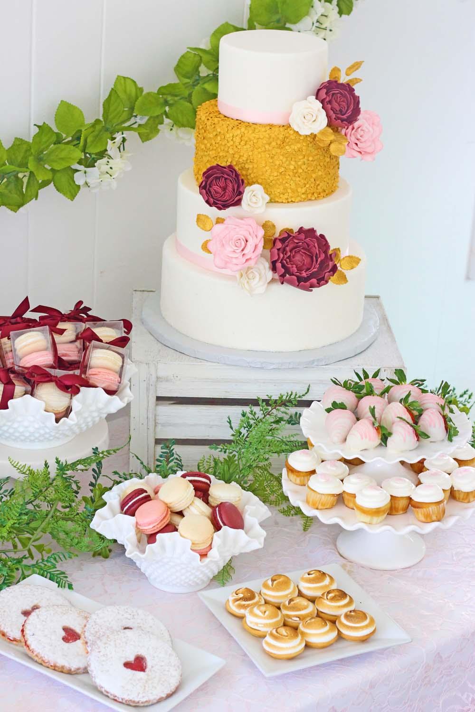 wedding dessert table from cafe pierrot in sparta nj