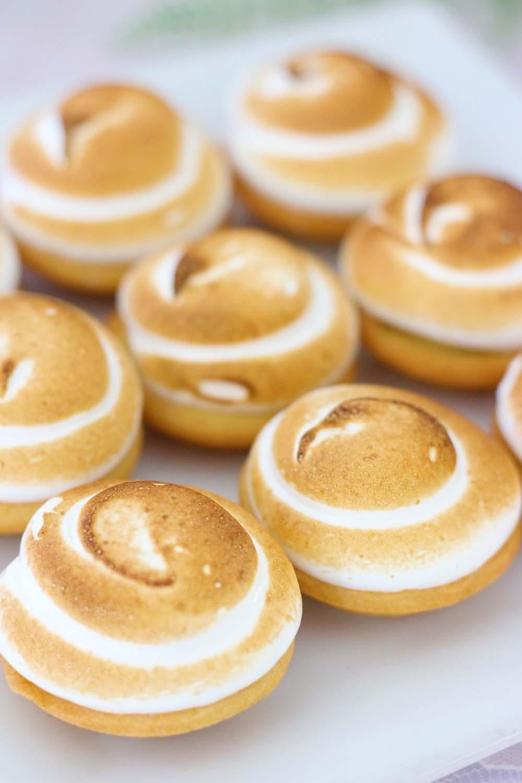 lemon meringue tartlettes for a wedding dessert table from Cafe Pierrot in Sparta NJ