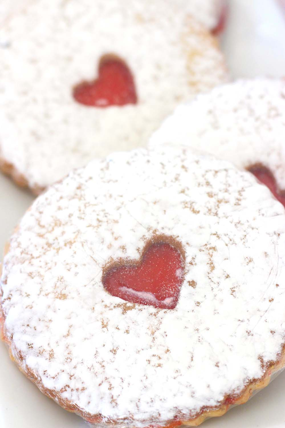Linzer Tart cookie for a wedding dessert table from Cafe Pierrot in Sparta NJ