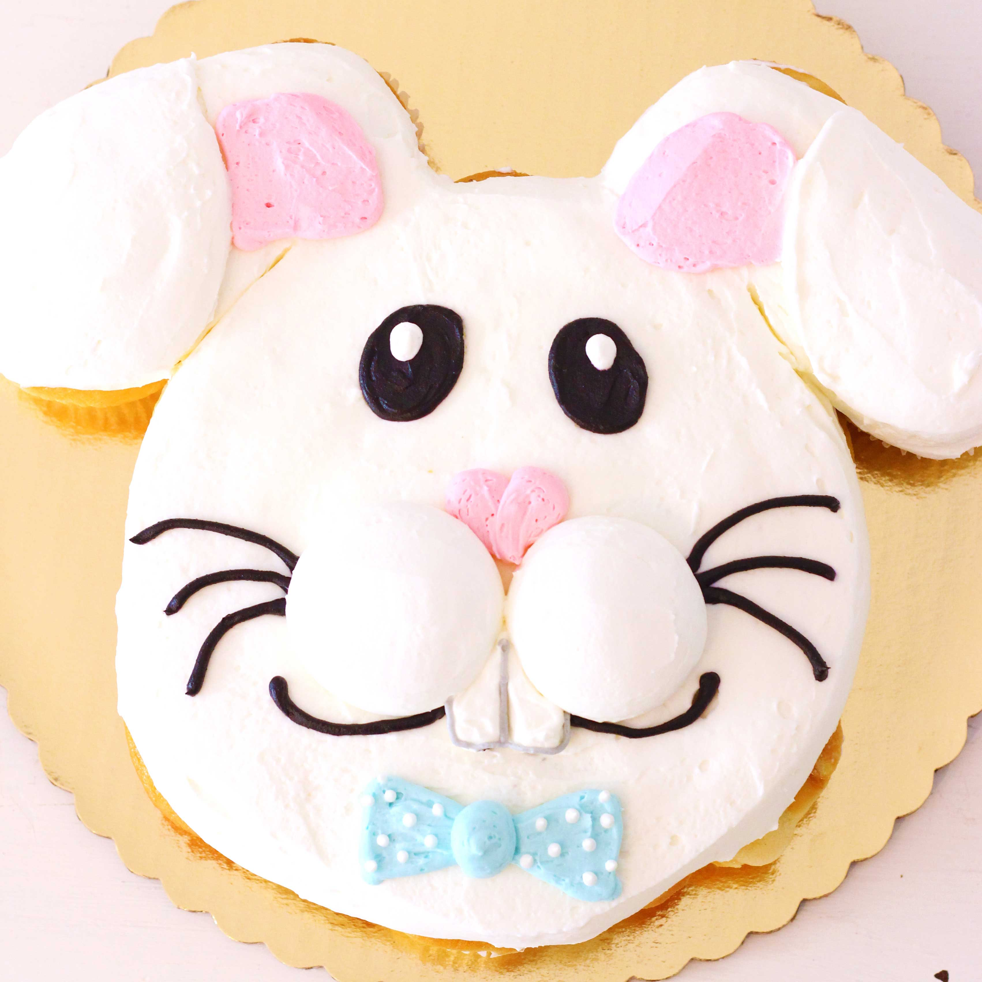 Easter bunny cupcake cake by french bakery in northern new jersey cafe pierrot