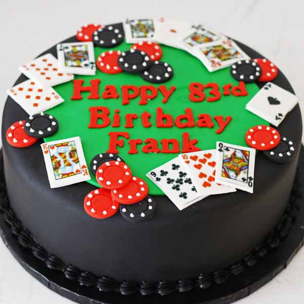 4082 round poker table cake (2)